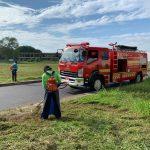 Goro  di lokasi Gor Sei Harapan Sekupang Oleh Dinas Pemadam Kebakaran Kota Batam